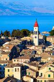 Luchtfoto van nieuwe vesting kerkyra, eiland corfu, Griekenland — Stockfoto