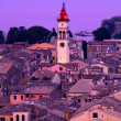Church of Saint Spyridon of Trimythous at evening, Kerkyra, Corfu island, Greece — Foto Stock