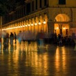 Liston, main promenade, at night, Corfu city, Greece — Stock Photo #13249654
