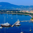Aerial view from Old fortress on the marina with yachts, Kerkyra — Stock Photo #13249659