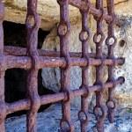 Antique iron Prison bars — Stock Photo