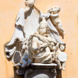 Sculptures of XVI c. on wall of Corfu City Hall — Stock Photo #13274961