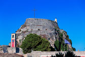 English tower Inside old fortress, Kerkyra, Corfu island, Greece — Stock Photo