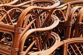 Vintage wooden chairs — Stock Photo