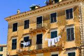 Typical buildings in old city, Kerkyra, Corfu island, Greece — Stock Photo