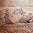 Ancient mosaics in the archaeological site, Paphos, Cyprus — Stock Photo