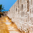 Walls of Famagusta fortress, Cyprus - Stock Photo