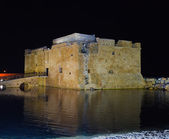 Paphos Castle at night, Cyprus — Stock Photo