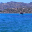 Hills, Boats and Road on the sea shore, Crete — Stock Video #13367237