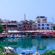 View on harbor from Kyrenia Castle (16th c.), North Cyprus — Stock Photo