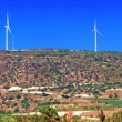 Stock Photo: Panoramof Wind turbines generating electricity