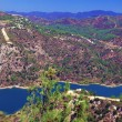 Panorama of Kouris dam with reservoir, Cyprus — Stock Photo