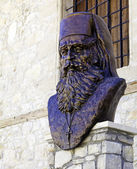 Statue of Dositheos, abbot of Omodos monastery, Cyprus — Stock Photo