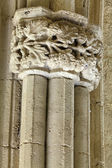 Carved stone work in Bellapais Abbey, Cyprus — 图库照片