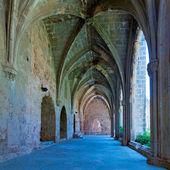 Gallery in Bellapais Abbey, Kyrenia, North Cyprus — Stock Photo
