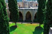 Court of Bellapais Abbey, Kyrenia, North Cyprus — Stock Photo