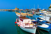 Marina and Kyrenia Castle (16th c.), North Cyprus — Stockfoto