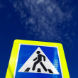 Royalty-Free Stock Photo: Sign Warning of Pedestrian Crossing
