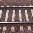 Closeup of Rail Track - Stock Photo