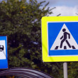 Sign Warning of Pedestrian Crossing — Stock Photo