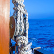 Sailing Boat Rigs: Rope and Knots — Stock Photo