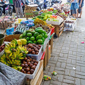 Traditional Fruit Market on Street, Bali — Stock Photo