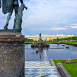 Stock Photo: Fountains At Peterhof Palace