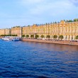 Hermitage and Neva  Embankment at Sunset — Stock Photo