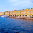 Hermitage and Neva  Embankment at Sunset - Photo