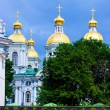 St. Nicholas Naval Cathedral, Saint Petersburg — Stock Photo
