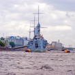 Battle Cruiser Aurora, Museum Ship - Stock Photo