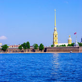 Peter and Paul Fortress and Neva River — Stock Photo
