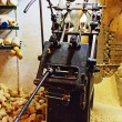 Vintage Machine for Making Dutch Clogs - Stock Photo