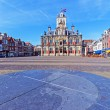Stock Photo: Vintage Building of City Hall, Delt, Holland
