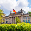 Reichstag Building and German Flag, Berlin — Stock Photo #13966791