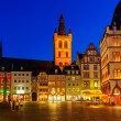 Vintage Small Houses at Night, Trier, Germany - Foto Stock
