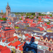 Aerial View of Old City, Delft, Holland — Stock Photo #13966829