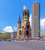 Kaiser Wilhelm Memorial in Kurfurstendamm — Stock Photo