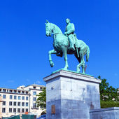 King Albert Bronze Statue, Brussels — Stock Photo