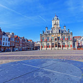 Vintage Building of City Hall, Delt, Holland — Stock Photo