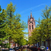 Oude Kerk (Old Church), Delft, Holland — Stock Photo