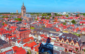 Aerial View of Old City, Delft, Holland — Stock Photo