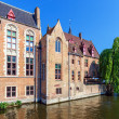 Dijver canal, Bruges, Belgium — Stock Photo