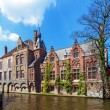 Dijver canal, Bruges, Belgium — Stock Photo