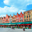 Vintage Homes on Market Square, Bruges — Stock Photo #14123880