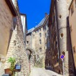 Cityscape of Medieval Streets, Luxembourg - Stock Photo