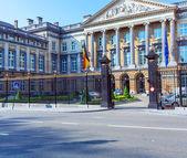 Palacio de las naciones unidas, bruselas, bélgica — Foto de Stock