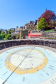 Map on Top of Bock Castle, Luxembourg — Stock Photo