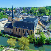 Abbey and St. Ioann Chirch, Luxembourg — Stock fotografie