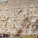 Panorama - Western Wall of Jewish Temple, Jerusalem — Stock Photo